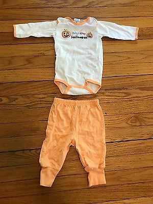 Carter's Child of Mine Baby's First Halloween Orange Suit Outfit & Pants Size M