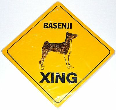 Basenji Dog Crossing Xing Sign Aluminum New Collectible Gift Metal Strong
