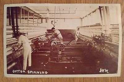 Lancashire Mills Cotton Industry The Spinning Room Unposted Vintage Postcard