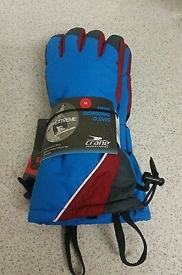 Mens Snowboard Ski Gloves Crane Snow Extreme Size M, brand new never used