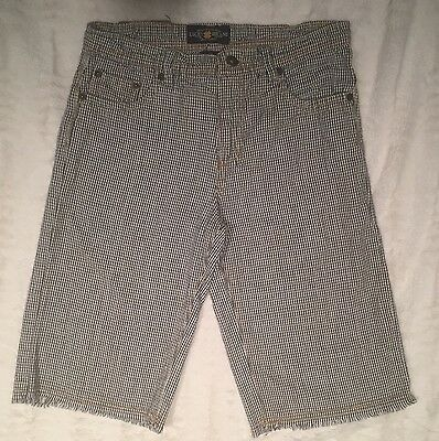 Lucky Brand Shorts Bermudas Size 14 Youth Checkered Blue/white