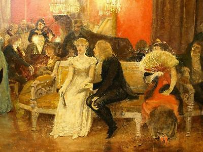 Charles Gogin 1844-1931 Hoffman Opera Scene Antique Original Oil Painting