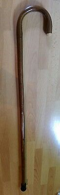 Wooden Walking Stick with Bent Handle #4
