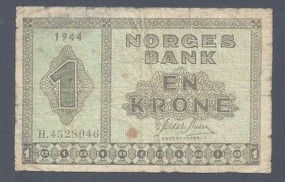 Norway (8046), 1944, 1 Krone, P15a