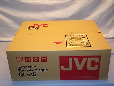 JVC QL-A5 Direct Drive Quarts Locked Vintage Turntable NEW in BOX Japan