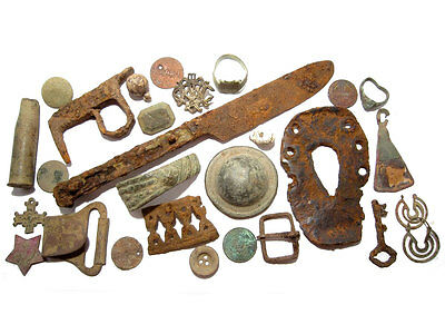 LOT of  BROAD VARIETY  ANTIQUE BRONZE ARTIFACTS