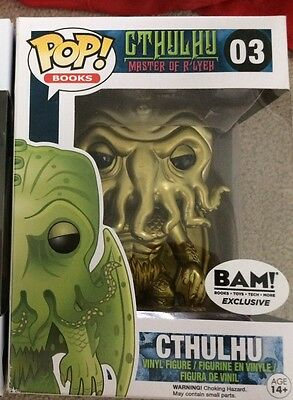 Cthulhu Gold Funko POP! BAM Exclusive Vinyl Figure Number 03 RARE