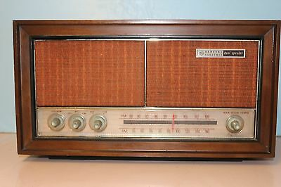 Vintage General Electric Dual Speaker Radio MODEL # T1240