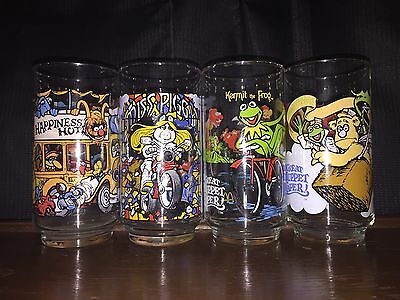Vintage Complete Set of 4 The Great Muppet Caper Glasses 1981 McDonald's