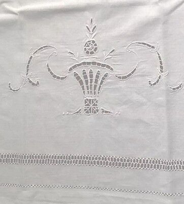 Antique Italian Pillow covers Embroidered , Cutwork, Threadwork, Hemstitch