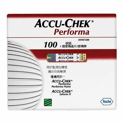 Accu-chek Performa Test Strips 100 FREE POSTAGE AUSSIE SELLER FAST POST TO YOU