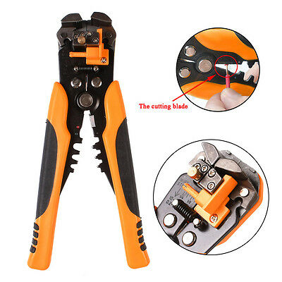 Micro Self Adjusting Electrical Wire Cable Cutter Stripper Crimper Plier Tool AU