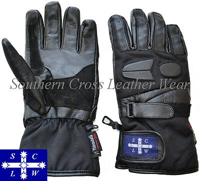 Sub Zero Motorbike Cruiser Gloves Leather/Cordura® (Ideal for WINTER) S-2XL