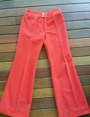 VIntage red pants from France. Size 8-10
