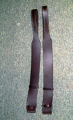 Eureka Brown  Leather  Fender Stirrup Leathers For Stock Saddle New Top Quality