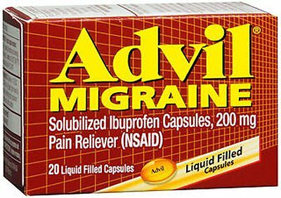 Advil Migraine Pain Reliever Liqui-Gels - 20 Ea