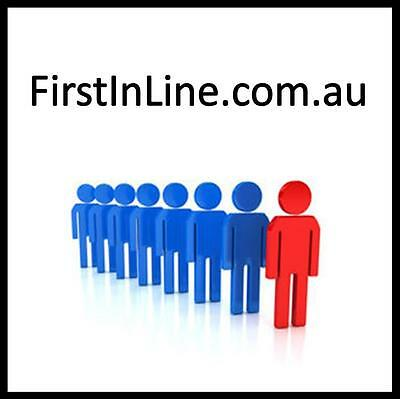 FirstInLine.com.au Domain For Sale First In Line Australian Business Website