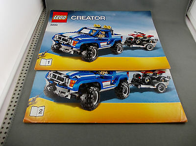 Lego Instructions Creator 5893 Off-Road Traffic  (No Lego)  only Book 1 and 2
