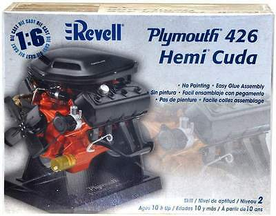 Revell 1:6 Plymouth 426 Hemi Cuda Model Kit (1442)