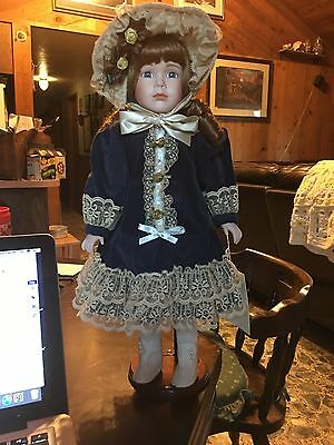 Antique porcilan doll Hand Made part of the Windsor collection Amanda