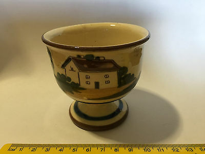 Torquay Motto Ware Cottage Motif Footed Bowl