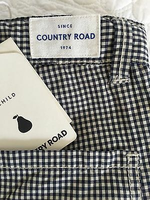 COUNTRY ROAD Child Navy & Ivory Gingham Short 2 Beautiful Condition $49.95