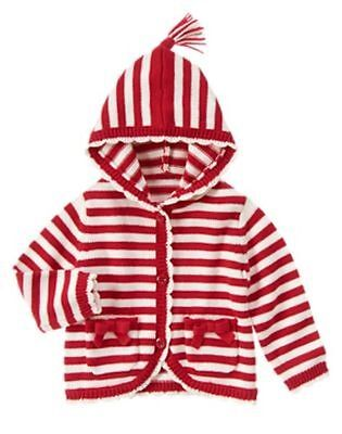 NWT Gymboree Red Stripe Sweater Cardigan Jacket 18 24mo Belles and Bowties