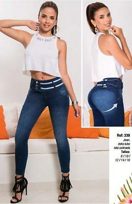 JEANS COLOMBIANOS, F339  Authentic Colombian Push Up Jeans, Jean Levanta Cola
