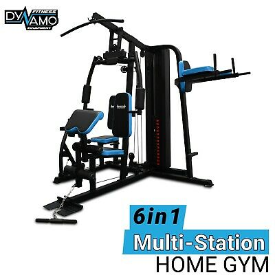 Home Gym Multi 5 Station Leg Press, chest press Boxing stand 200LBS weight stack