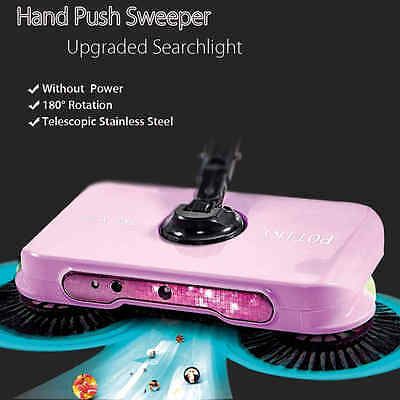 Spin Hand Push Broom Sweeper Household Dust Collector Floor Surface Cleaning Mop
