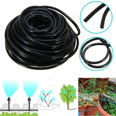 20/50m Watering Tubing Hose Pipe 4/7mm Micro Drip Garden Irrigation System Yard