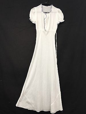 RARE 1800s Antique Vtg Victorian DRESS White Tissue Cotton Edwardian 1900s XS