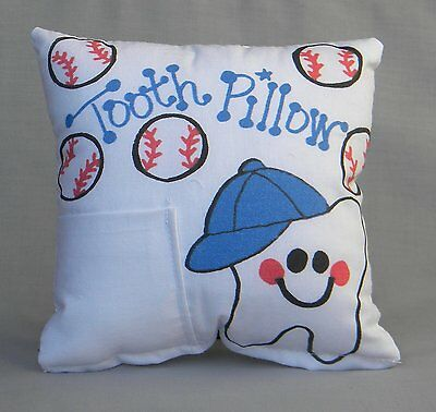 Baseball Tooth Fairy Pillow with Tooth Fairy Dust
