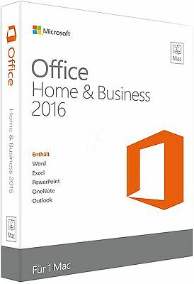 Microsoft Office 2016 Home and Business MAC Lizenz Multi-lang