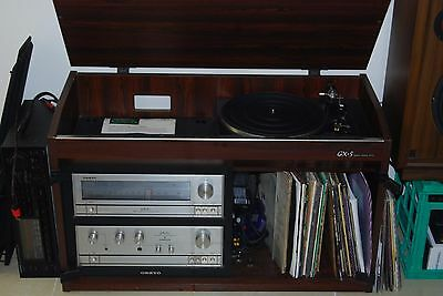 70's Onkyo GX-5 Stereo Cabinet -Turntable-Amplifier-Speakers-
