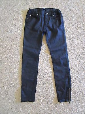 Girls Bardot Junior black pants with zips on sides   Size 8