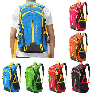 40L Waterproof Sport Backpack Bag Outdoor Climbing Rucksack Sports Travel UK