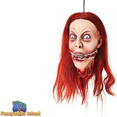 HALLOWEEN HORROR BREATHLESS HANGING HEAD - fancy dress costume party accessory