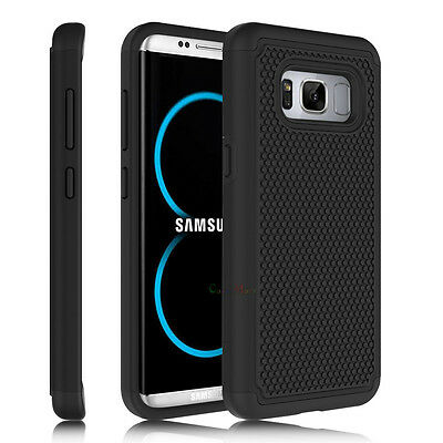 For Samsung Galaxy S8 Case Slim Hybrid Shockproof Rubber Armor Hard Phone Cover