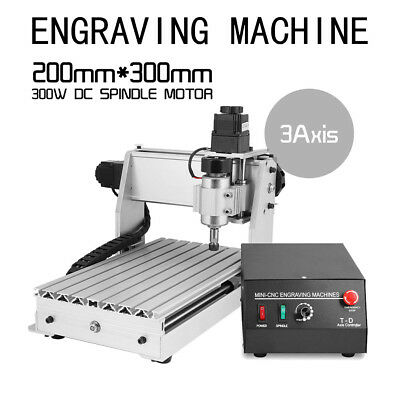 Top CNC 3 AXIS ENGRAVER USB CNC 3020 ROUTER ENGRAVING DRILLING MILLING MACHINE