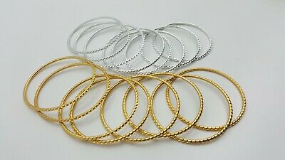 Mini Craft Rings Metal Hoop Small Circle DreamCatcher Gold Silver Decorative