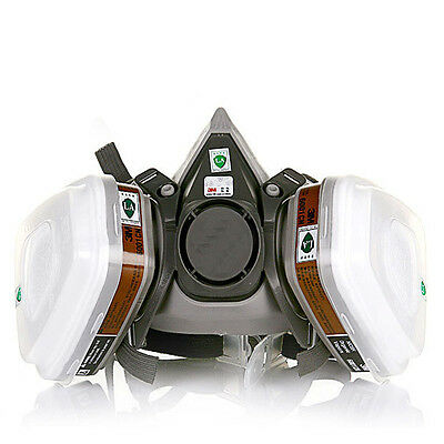 For 3M 6200 chemical Gas Mask 7 Suits Filter Paint Spray Respirator Half Mask