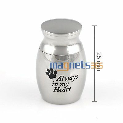 Memorial Remembrance stainless steel Pet Urn For Ashes Dog Cat Ash Box Cremation