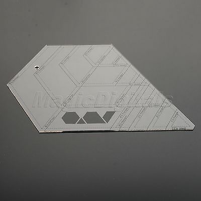 Diamond-shaped Quilting Sewing Patchwork Ruler Grid Cutting Edge Tailor Craft