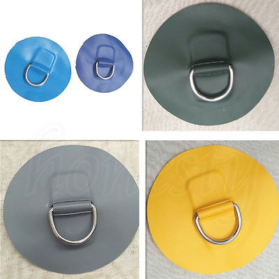 1pc Stainless steel D-ring Pad PVC D Patch for PVC Inflatable Boat surfboard 3cm