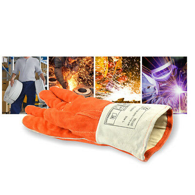Protective Welding Gloves Cowhide Gloves Welders Gloves Cotton Lined XL