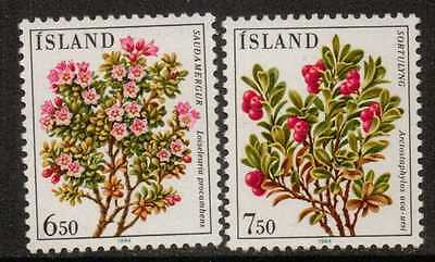 Iceland Sg648/9 1984 Flowers  Mnh