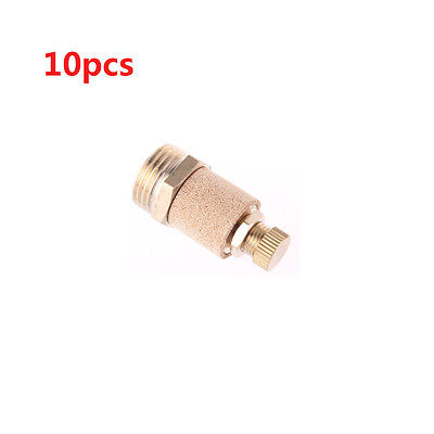 10Pcs 3/4 PT Male Thread Adjustable Pneumatic Muffler Noise Exhaust Silencer