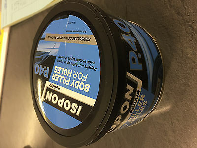 U-POL David's ISOPON P40 Glass Fibre Bodyfiller Compound Repair Dents Scratches
