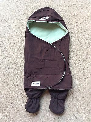 BUG IN A RAG Baby Wrap - Brown and pale green - Size 000